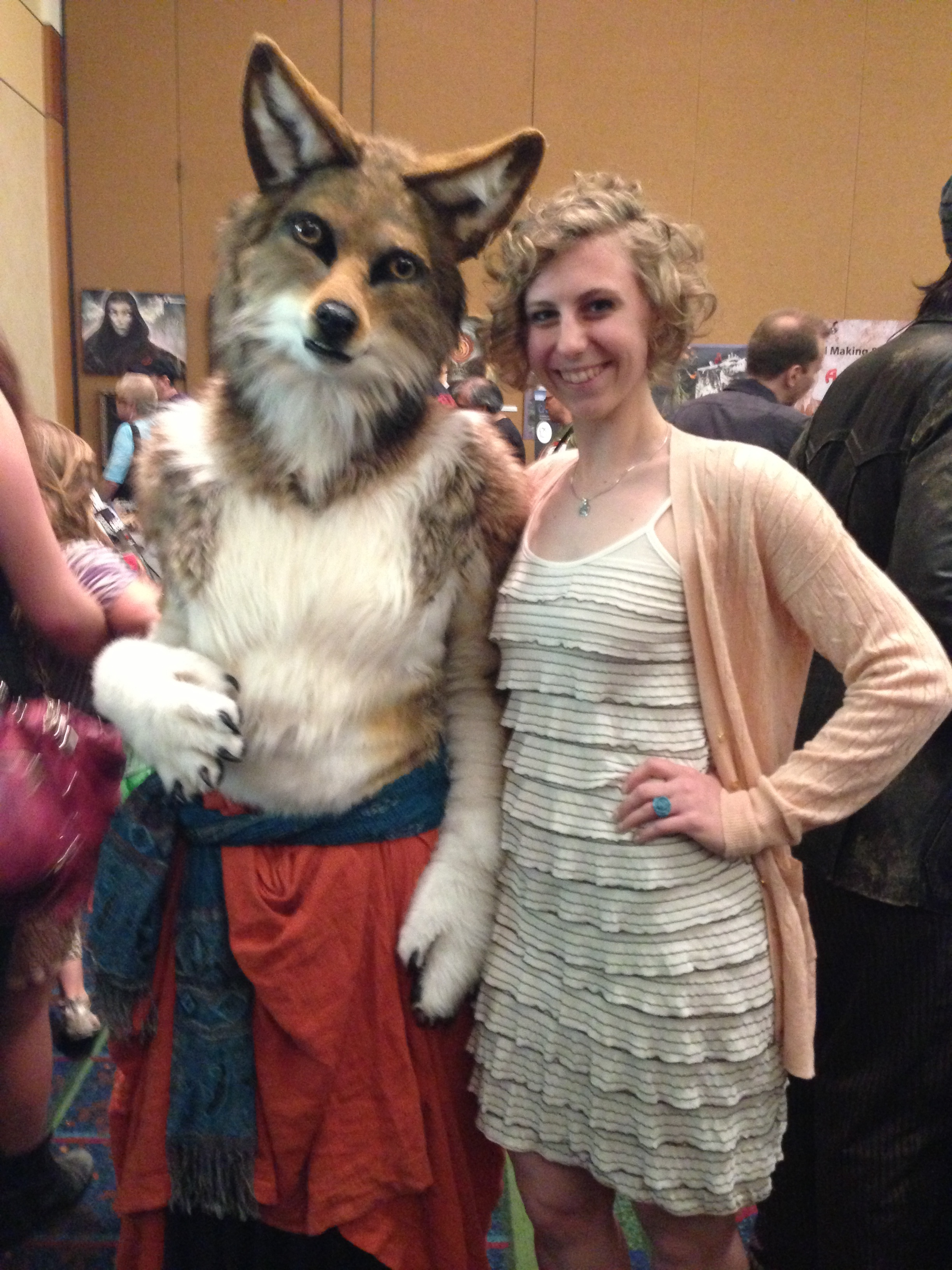 We had to have a photo with this incredible fox!