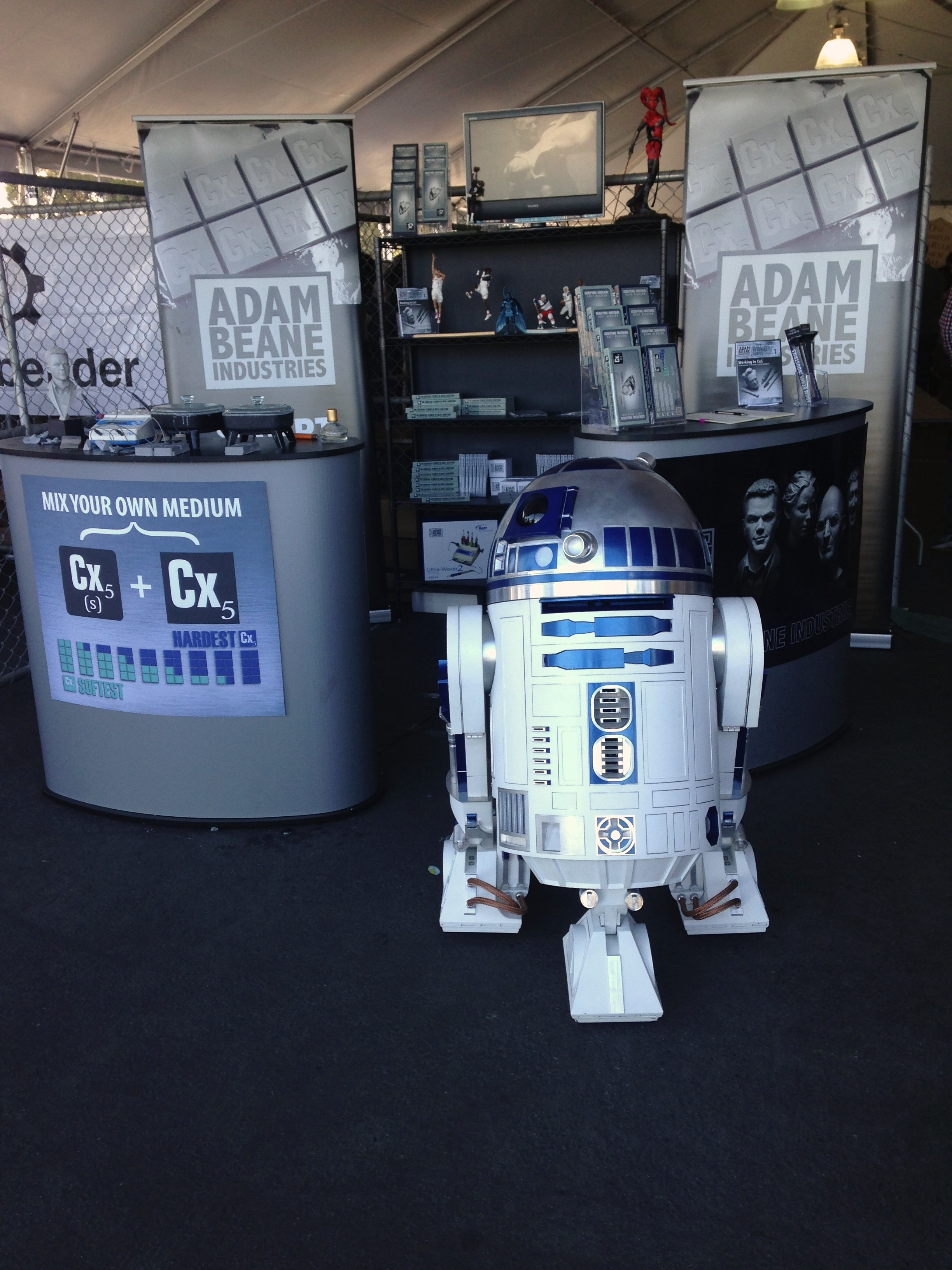 R2D2 even ran the Adam Beane Industries booth for us for a minute!