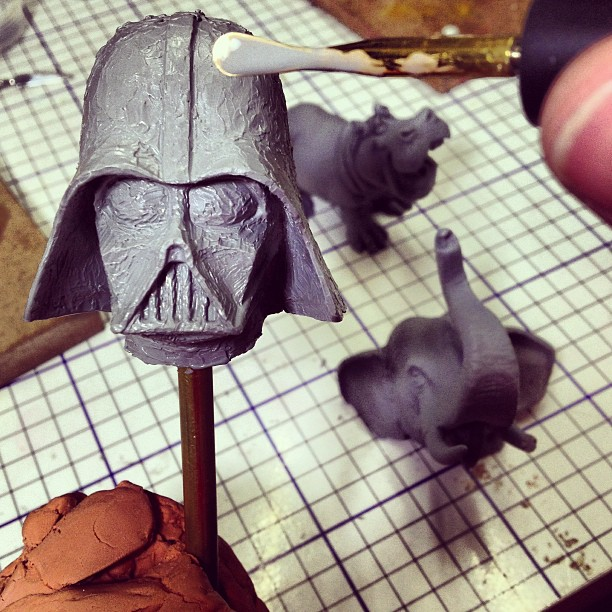 Igor Gosling - Darth Vader head in progress