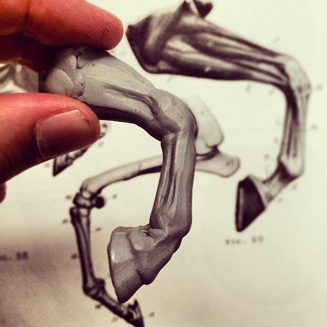 Igor Gosing - Horse study leg