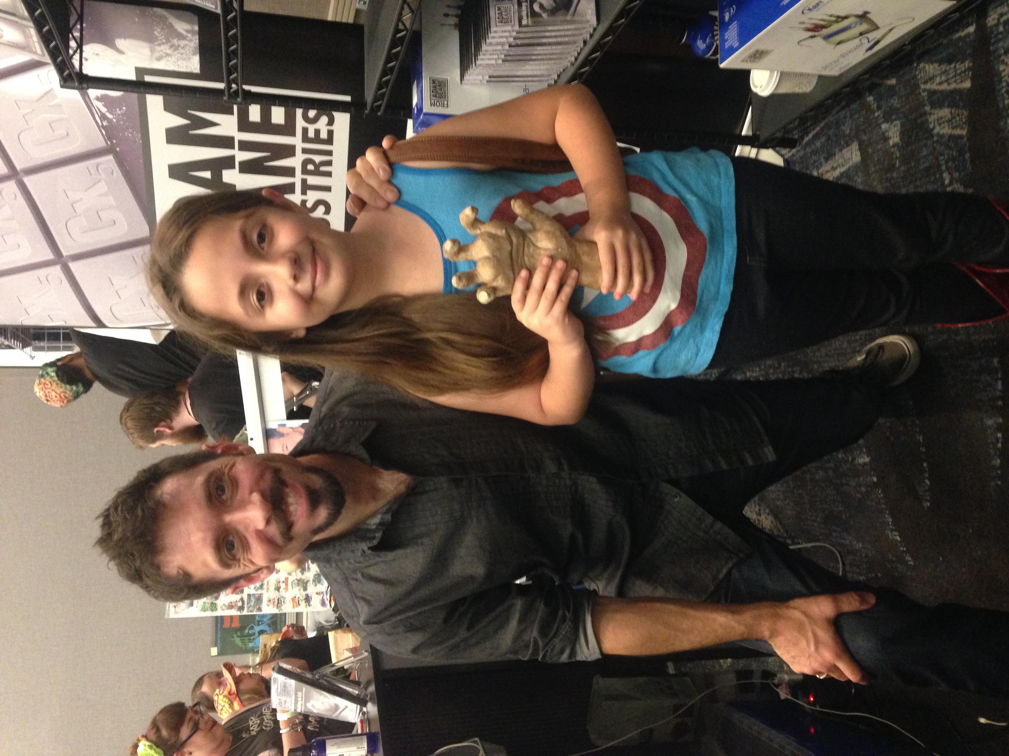 Adam meets Bella the sculptor!