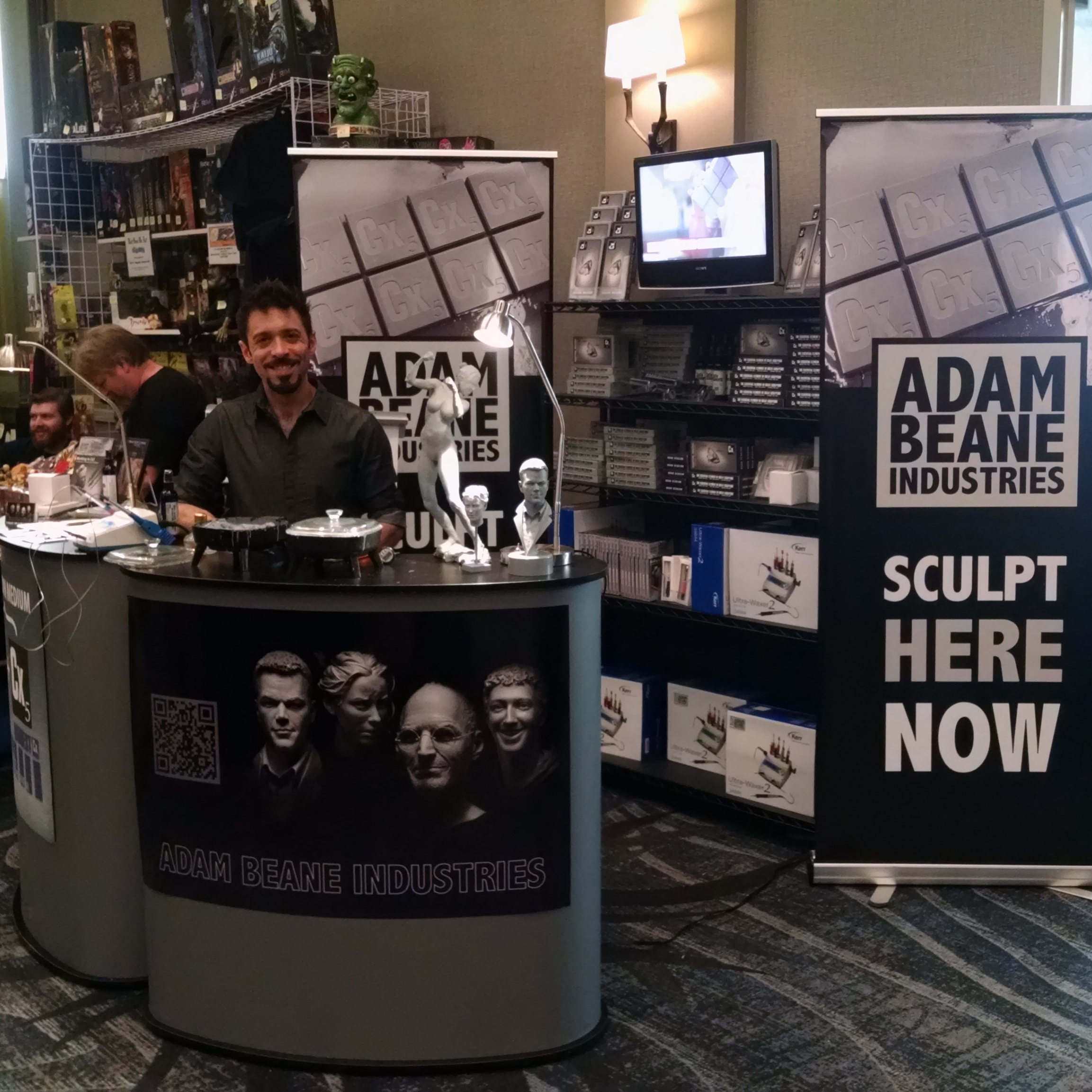 A quick shot of our booth before the crowds rush in