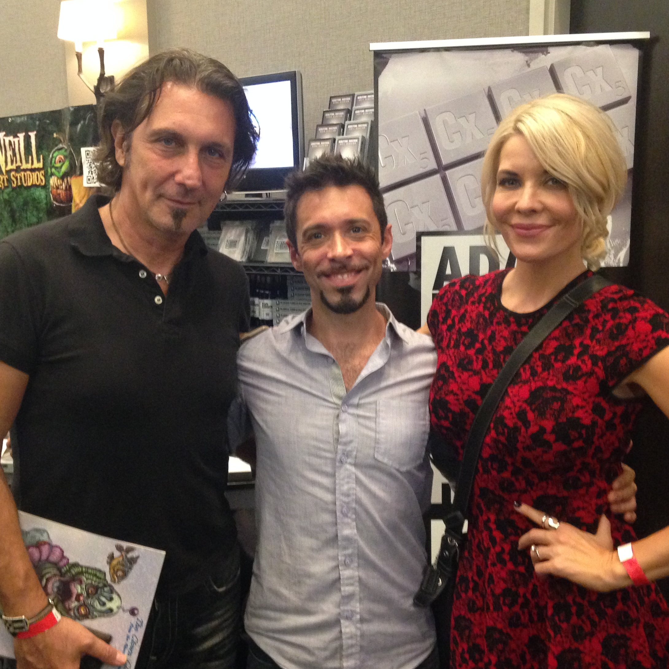We got to see Patrick Tatopoulos and McKenzie Westmore!