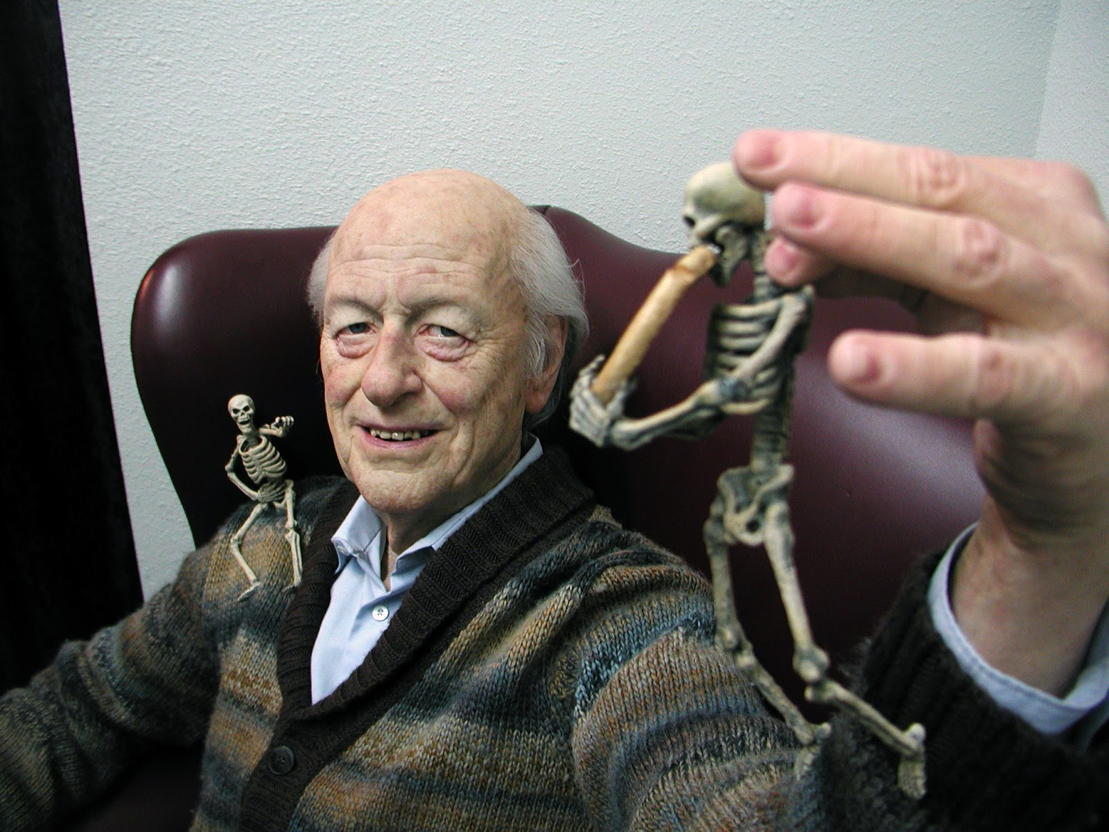 Ray Harryhausen life sized silicone by Mike Hill