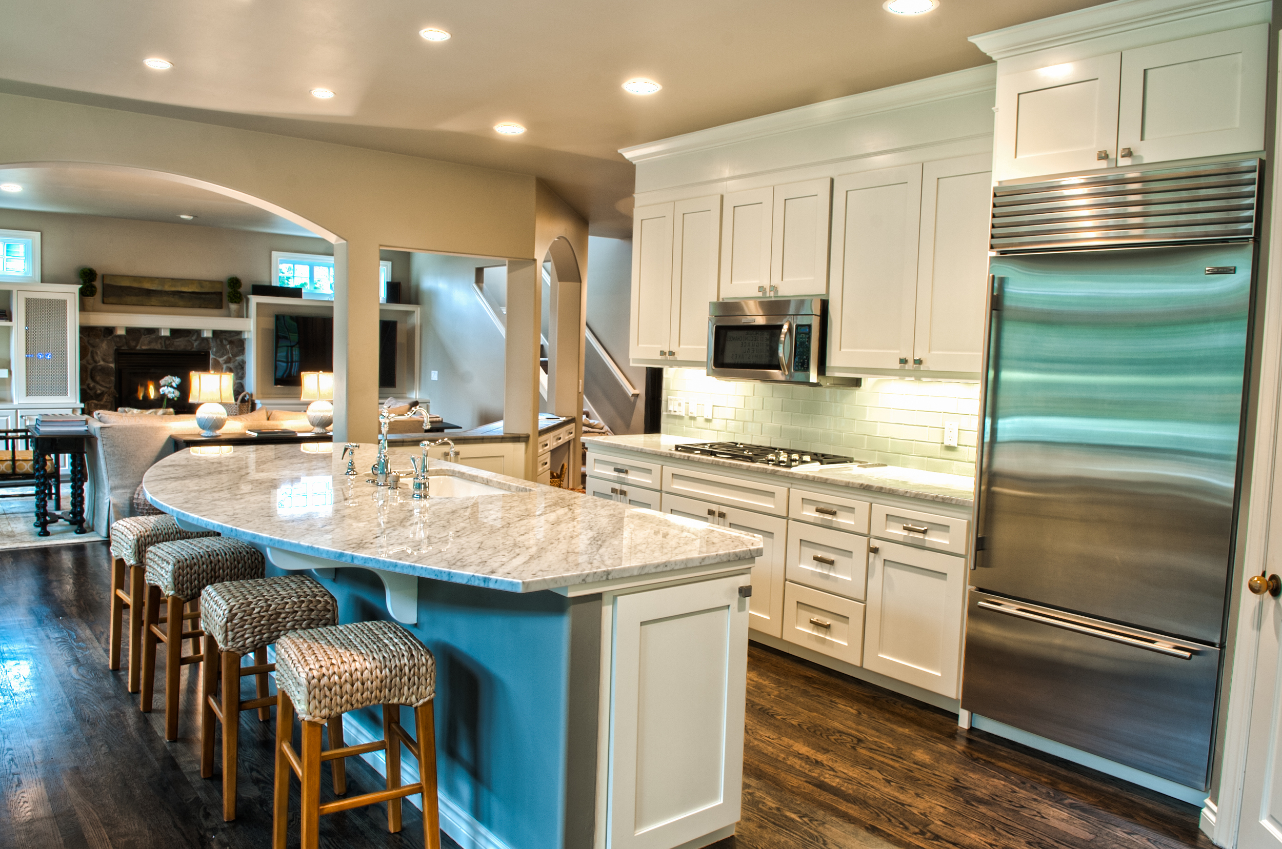 The newly remodeled Kitchen.  The AFTER photo.   AFTER Photos by Rebecca Anne Photography