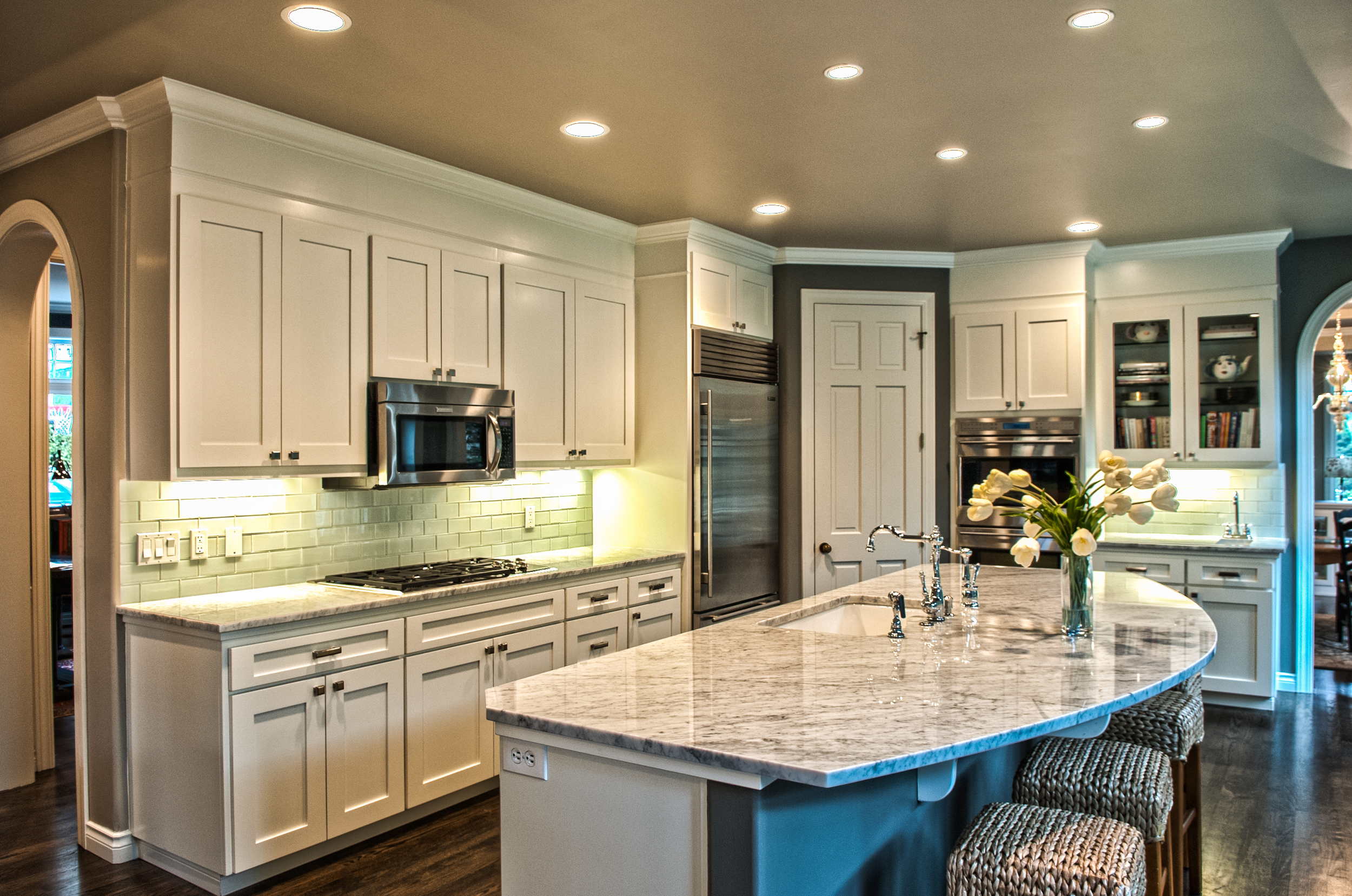 We love the finished Kitchen.   Clean, functional, updated and classic.
