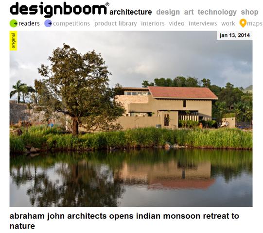 Monsoon Retreat on Designboom