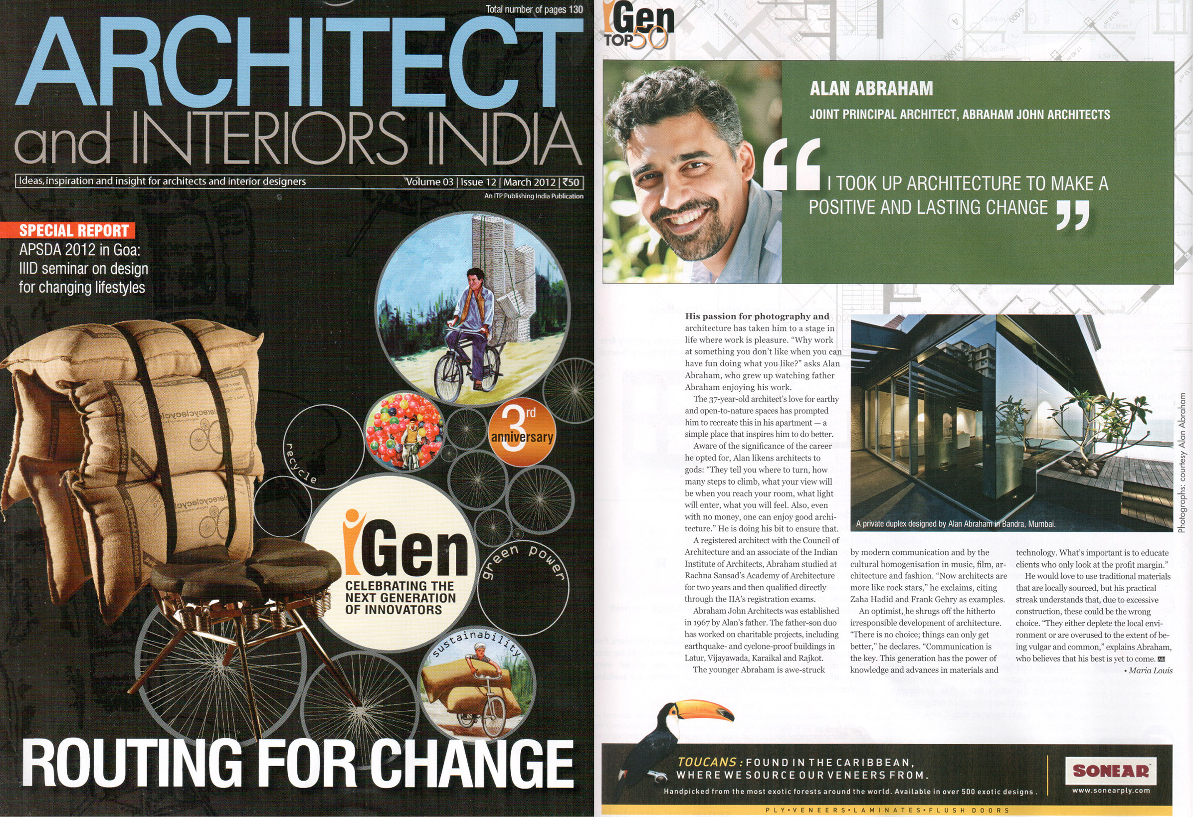 iGEN Top 50-The New Generation of Innovators in Architecture, March 2012