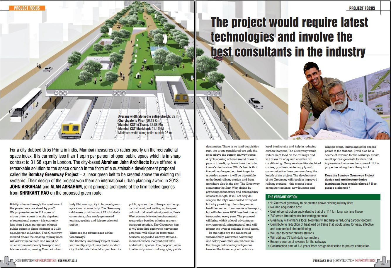 """""""the project is part of the worldwide synergy towards sustainable projects""""  - Alan Abraham"""