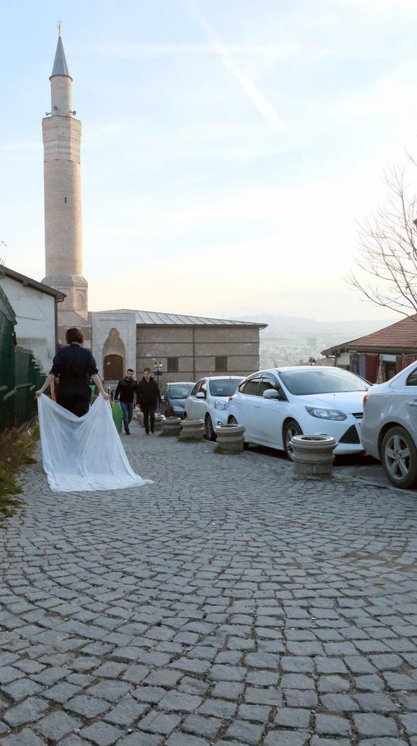 Performance, Çikrikçilar Yokuşu, Ankara, Turkey, 02/2019