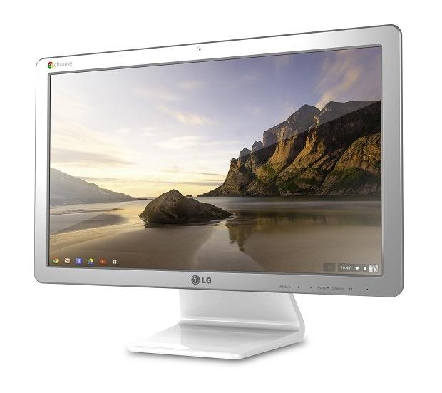 A Chromebase - an 'all-in-one' computer that runs Chrome OS.