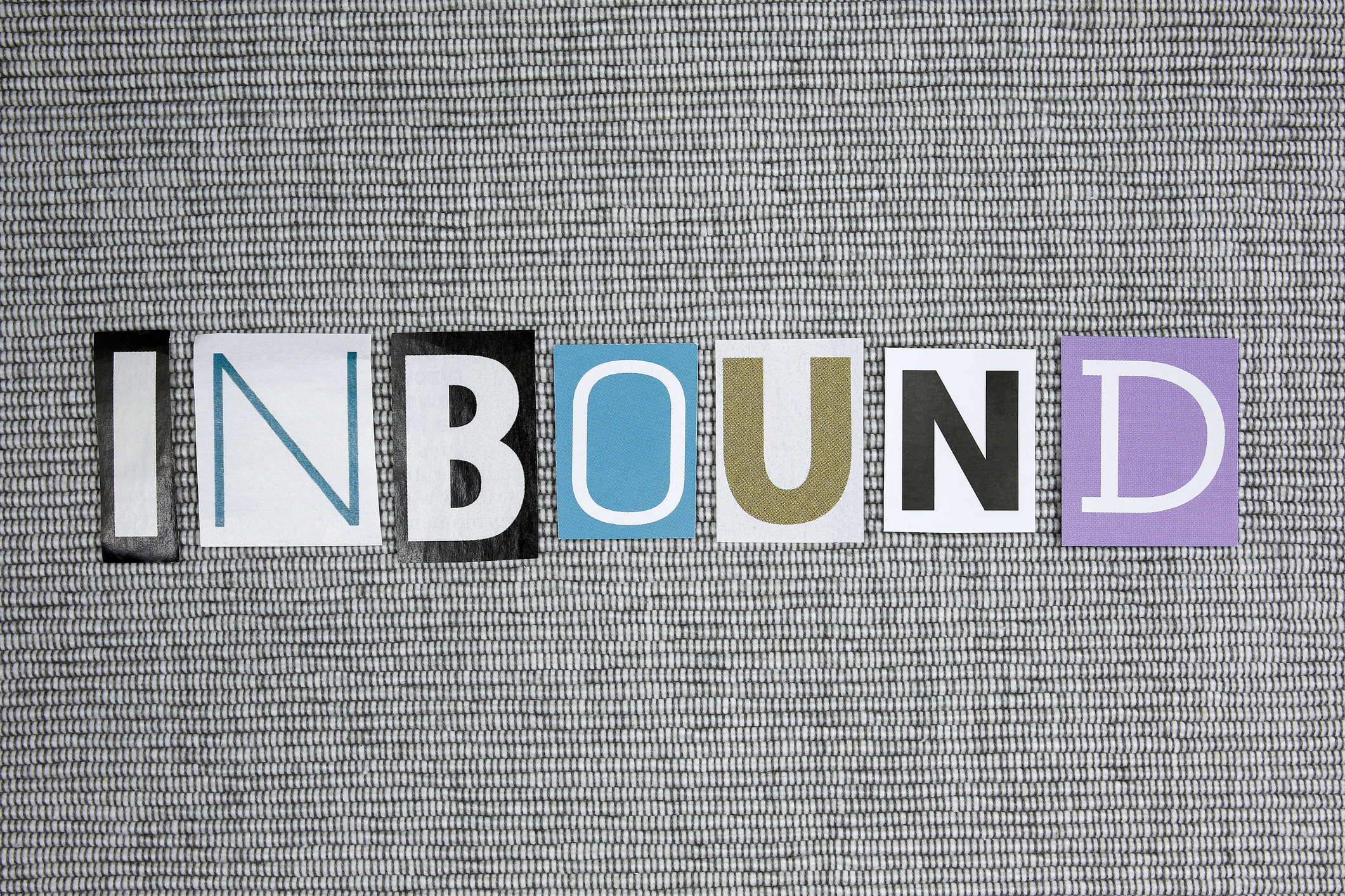 Image with letters spelling the word 'inbound'