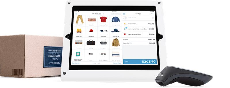 Shopify's Point of Sale kit, for selling your wares in a 'real' shop