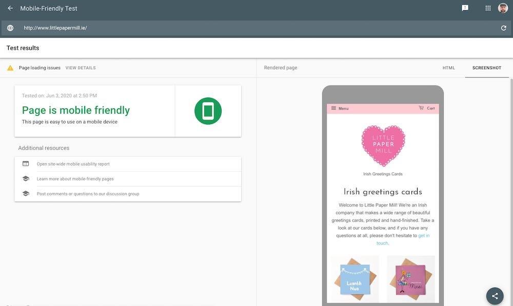 Lo strumento di test ottimizzato per dispositivi mobili di Google ti consente di verificare le prestazioni del tuo sito attualmente sui dispositivi mobili.