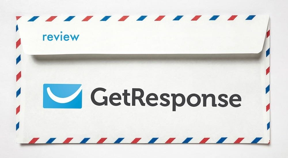 Getresponse review (image of an envelope with the Getresponse logo on it)