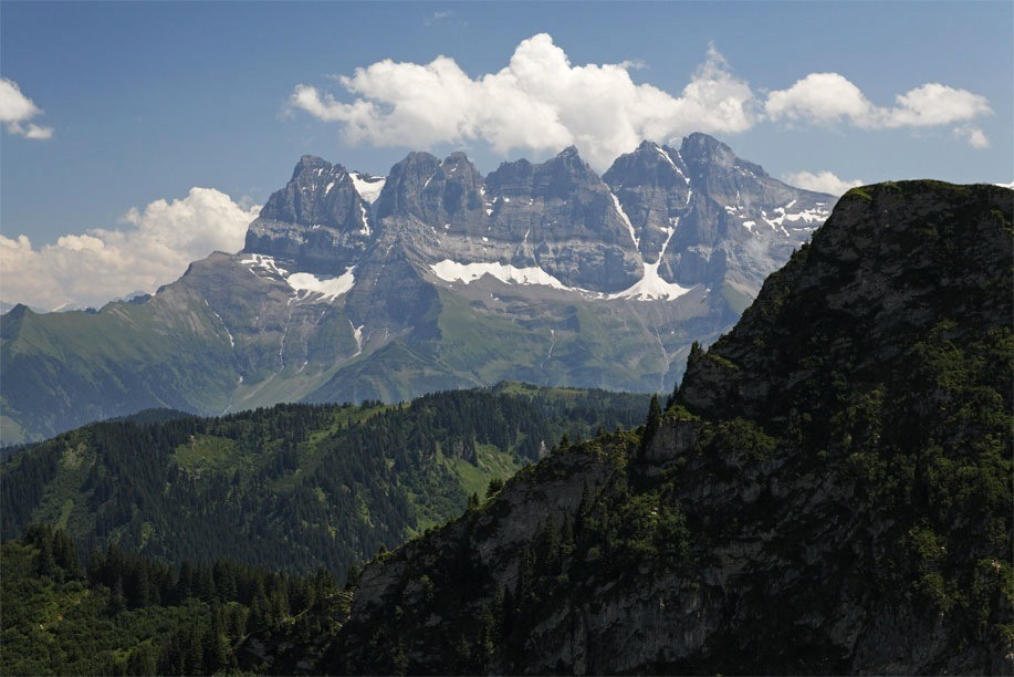 Les Dents du Midi up closer - not from our terrace obviously!