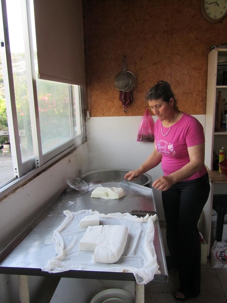 Halloumi making