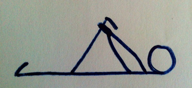 Loop the towel around the arch of the foot, not the bottom of the leg as my bad drawing suggests!