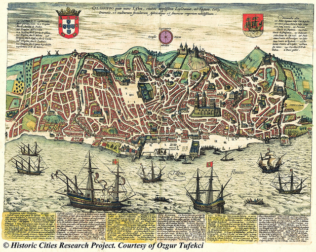 Ancient map of Lisbon (not from exhibition)  Image by  Lostinawave