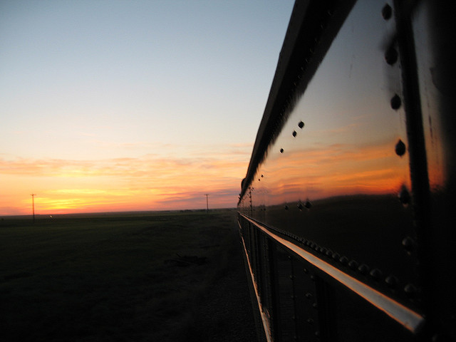 Sunset train.... Image by  Simon Pielow