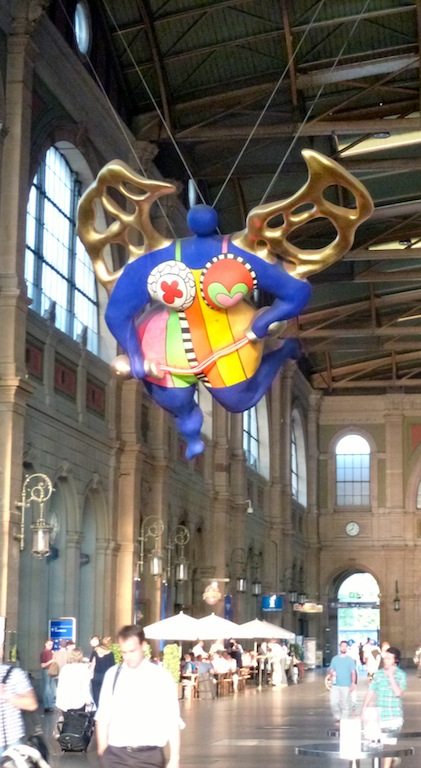 Zurich station art - was this a good omen for my journey? I decided that it was!