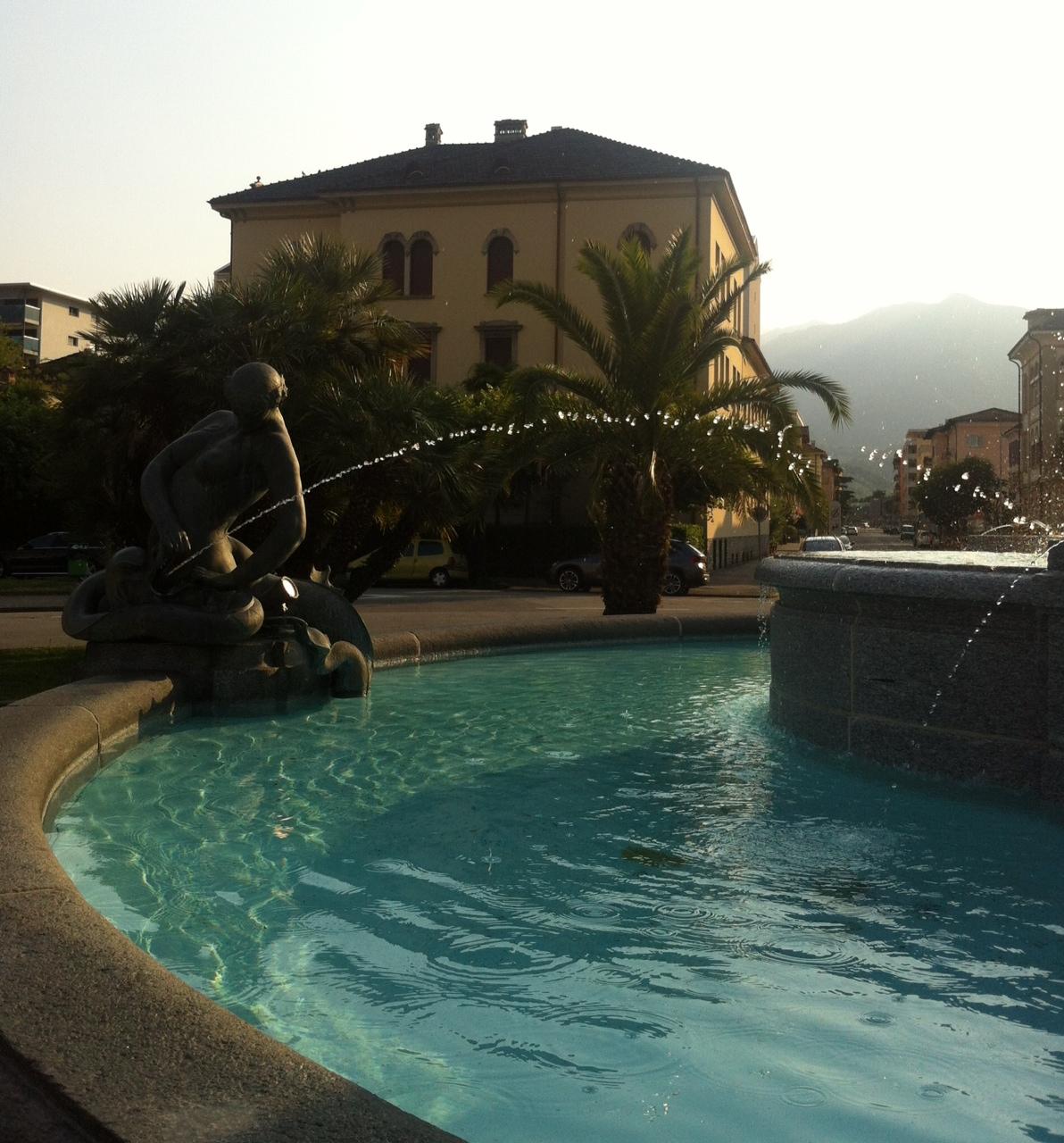Fountain at Piazza Giovanni Pedrazzini, Locarno