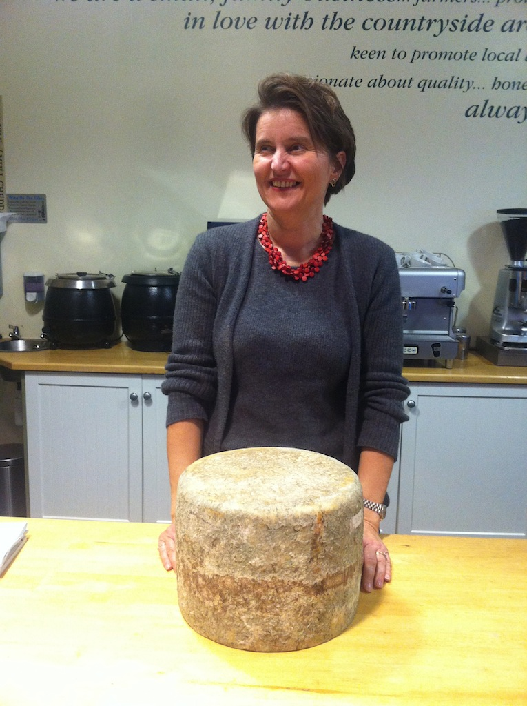 Jane Stewart, chief cheese maker with one of her Anster cheeses.