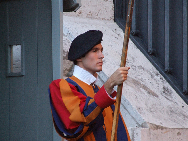 Have you seen Columbine, Mr Swiss Guard?   Image by  Gnuckx