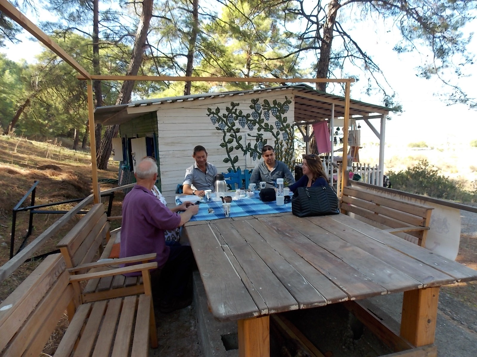 Jo meeting with a  turtle conservation project  team in Turkey