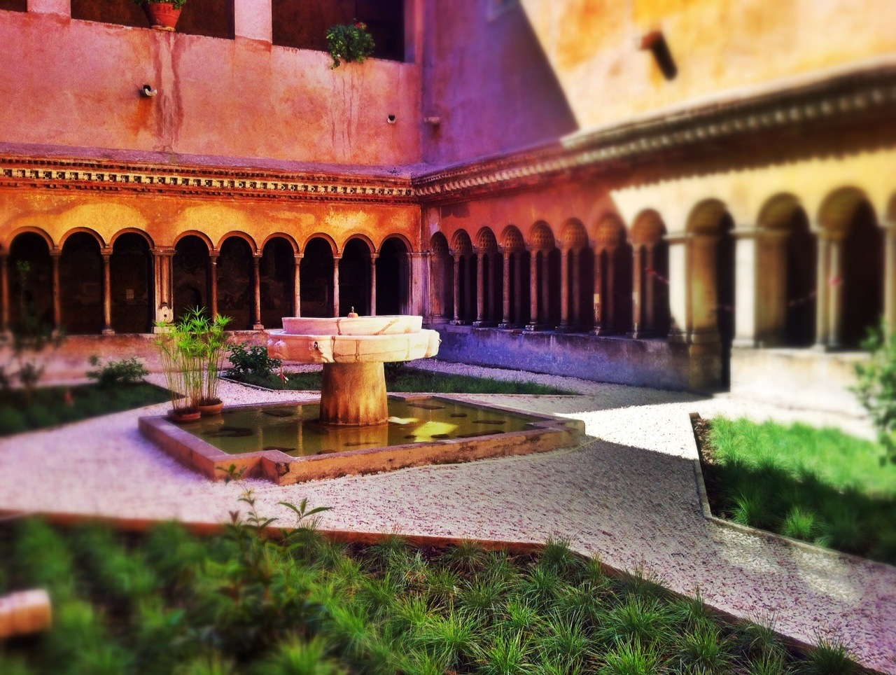 Cloister at the Santi Quattro Basilica