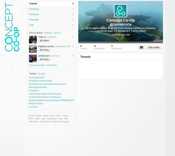 Concept Co-Op is now on Twitter! Make sure to follow for updates.