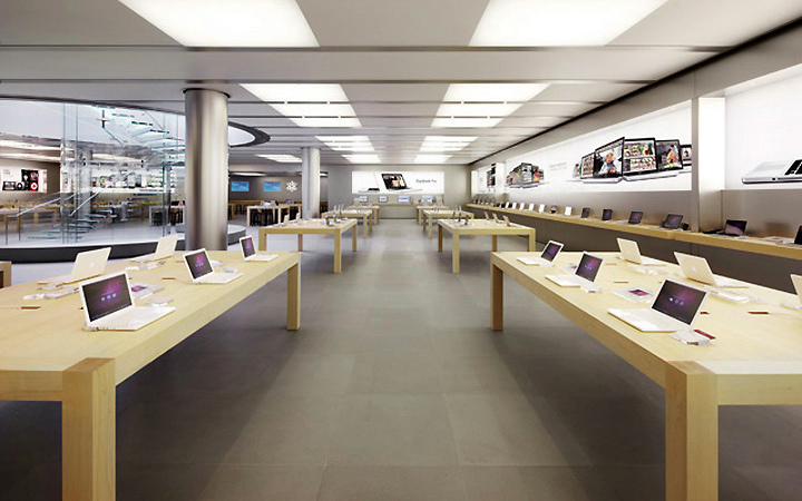 Interior of the Apple store