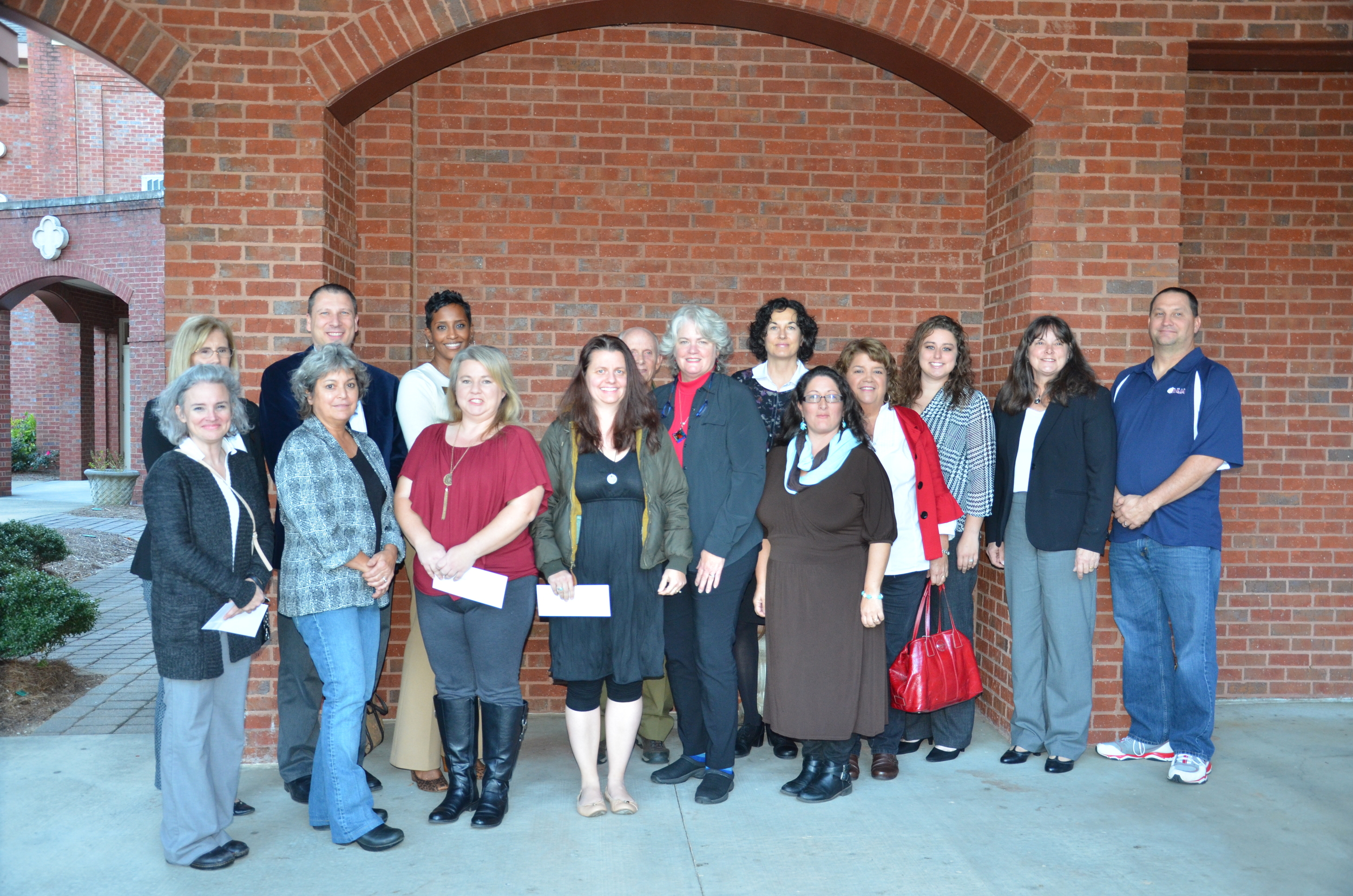 2015 Community Impact Grant Recipients representing    Boy Scout Troop 241, Cherokee County Farm Bureau, Cherokee County School District – Office of Educational Programs, Creekview High School, Hasty Elementary School, Heaven's Gait Therapeutic Riding, Living Bread Ministries, North Georgia Angel House, Inc.and Upper Etowah River Alliance.