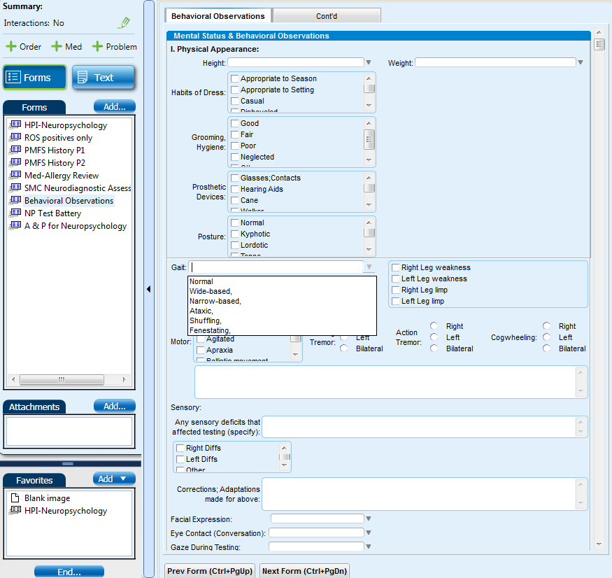 Neuropsych EMR Screen Shot #6 (Behv. Obs Page 1).png