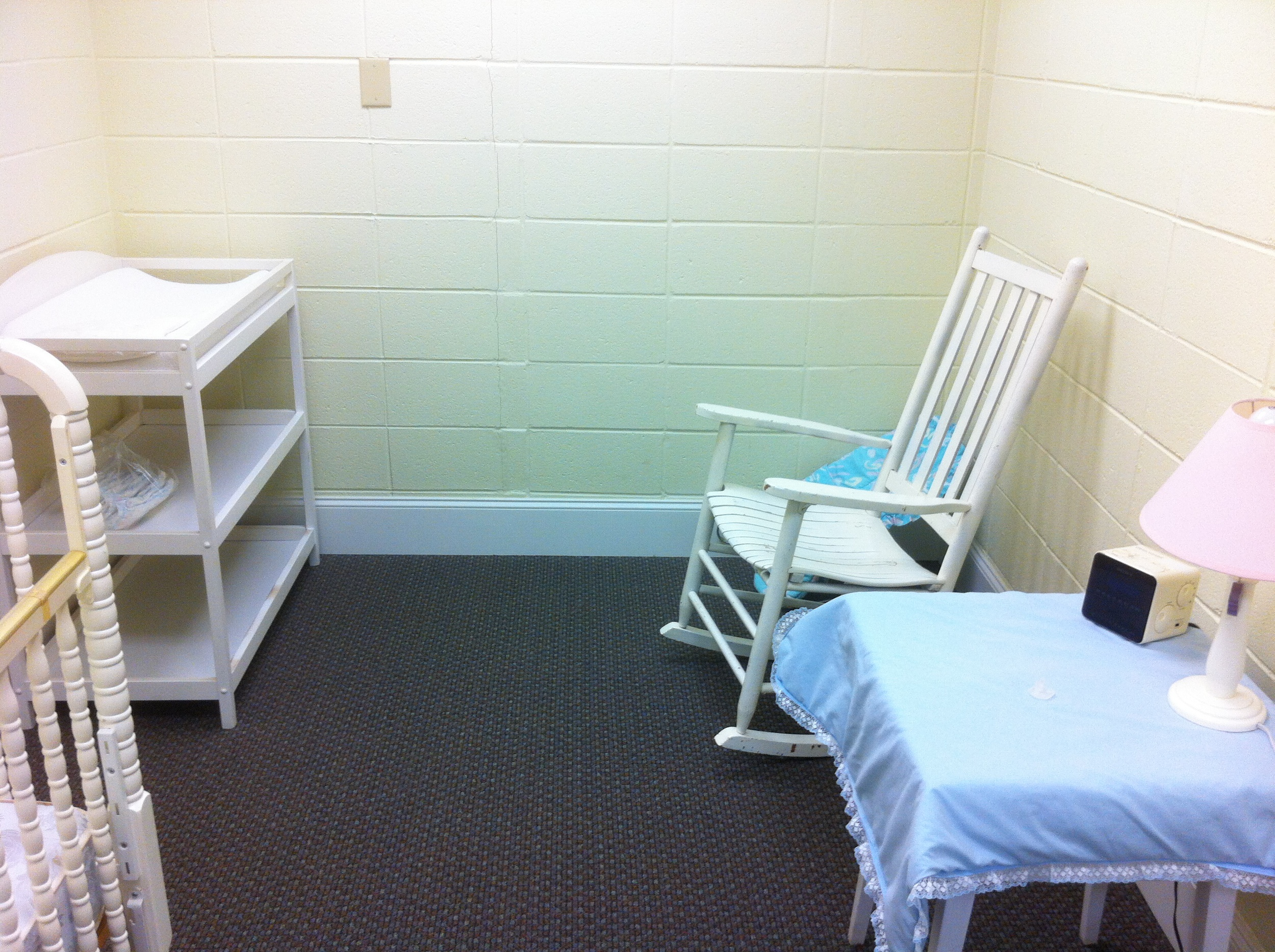 A private changing and/or nursing room is available for mothers