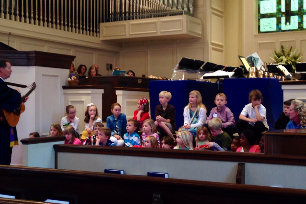 Children's Sermon during the Traditional Worship Service