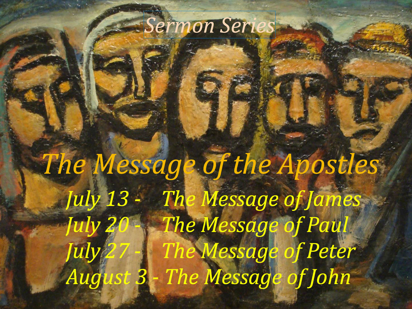 Click here for the series on The Message of the Apostles