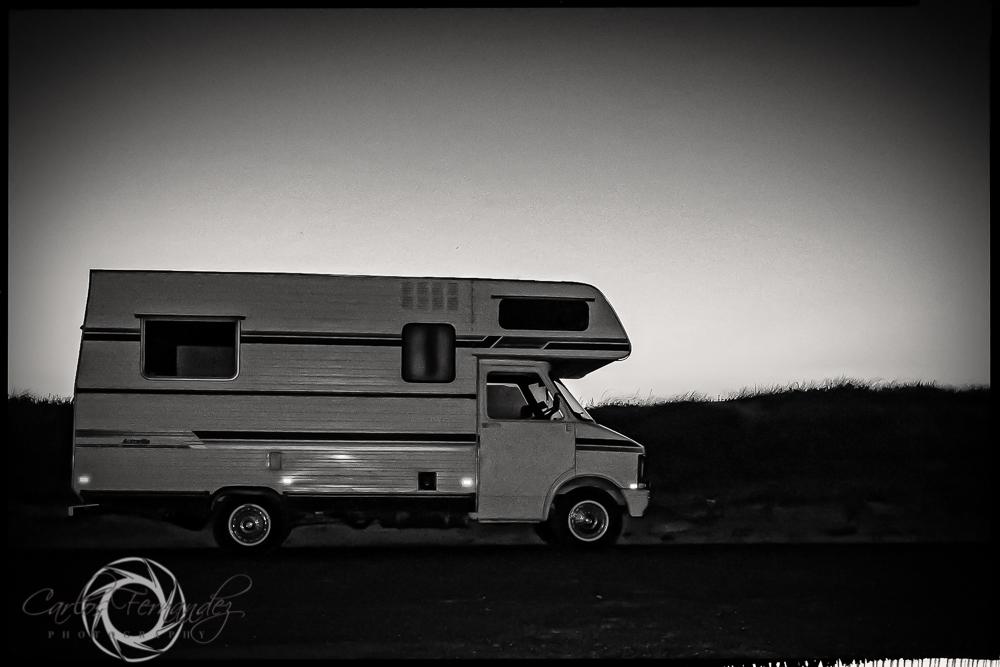 Camper in parking lot of Cape Town Beach. 21/365 #365project #camper #capetown #melkbosstrand