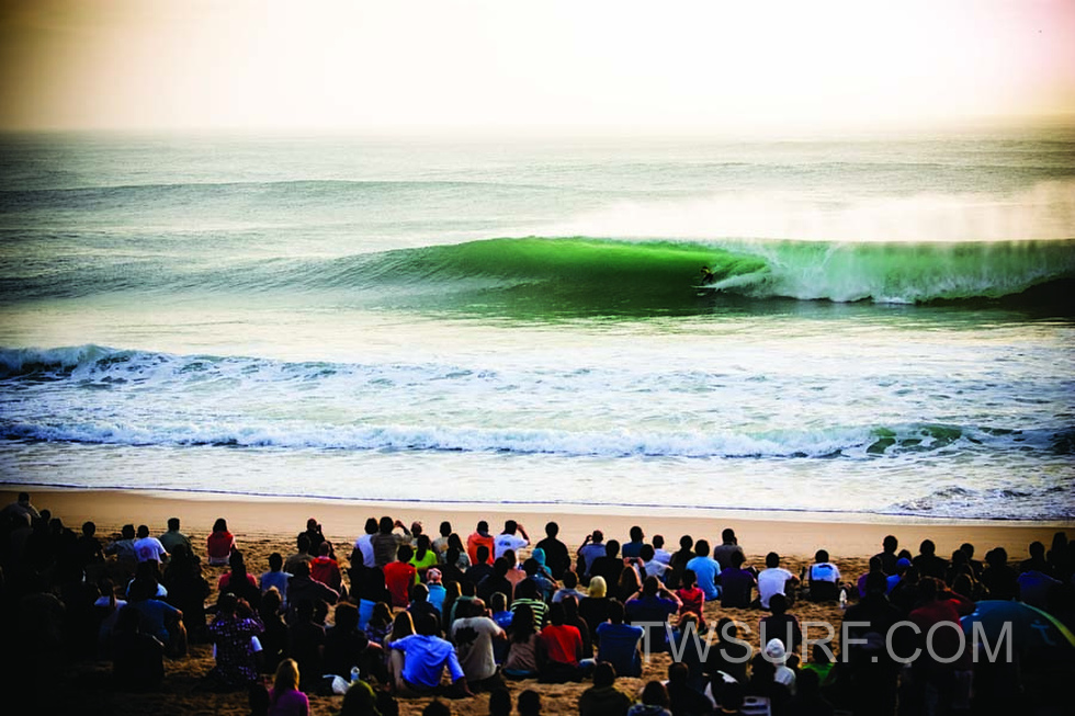 Billabong Pro Surfing Championship at Supertubes in Jeffrey's Bay, South Africa