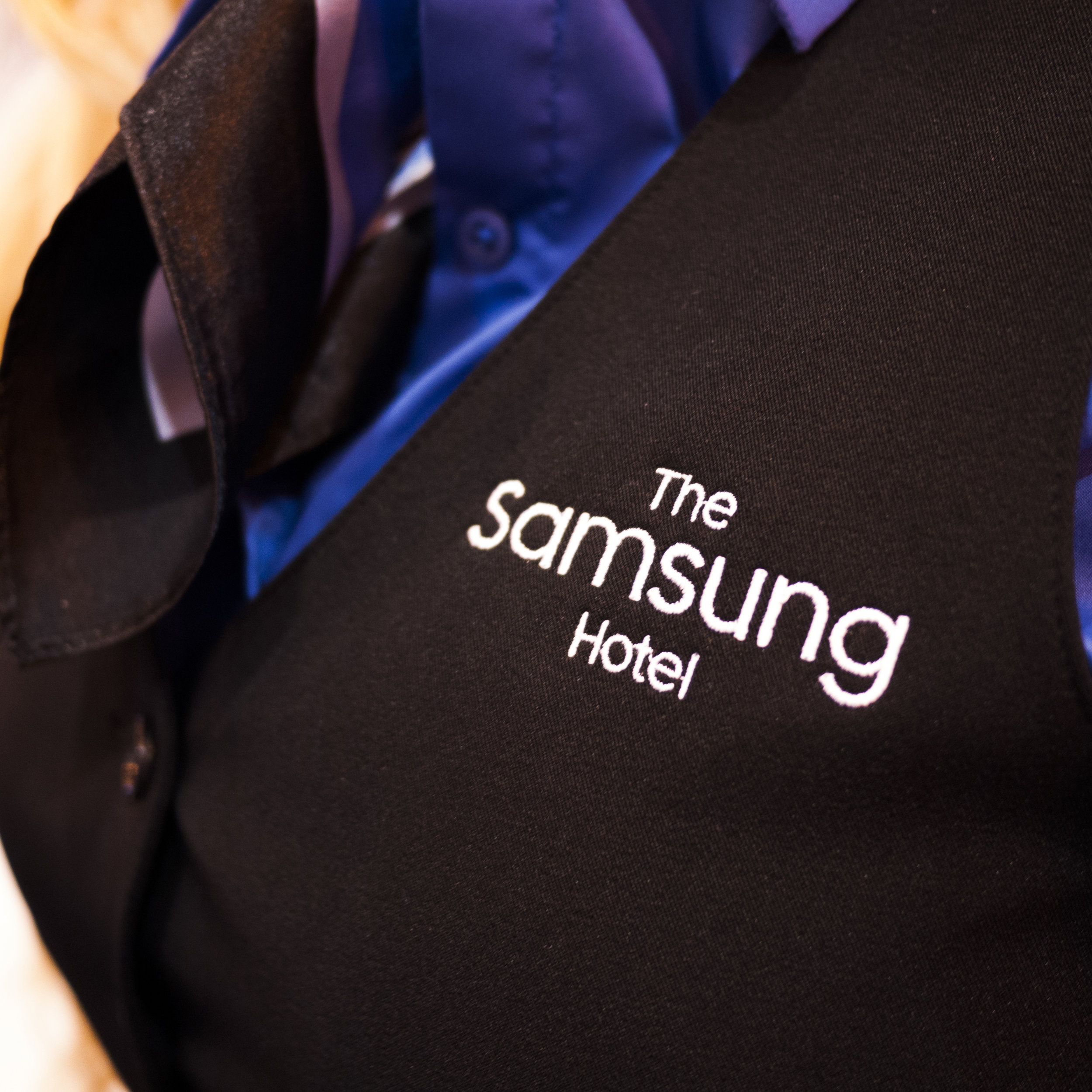Samsung Hitec | Exhibit Design   Samsung decided to create a branded hotel environment in Hitec hospitality show. I was tasked with creating a new Samsung brand that would be built on for multiple years for this trade show.