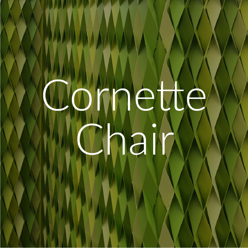 Cornette Chair | Industrial Design   Cornette Chair is designed to utilize methods of mass production to create a customizable and beautiful lifetime piece. Protection on the outside, comfort on the inside.