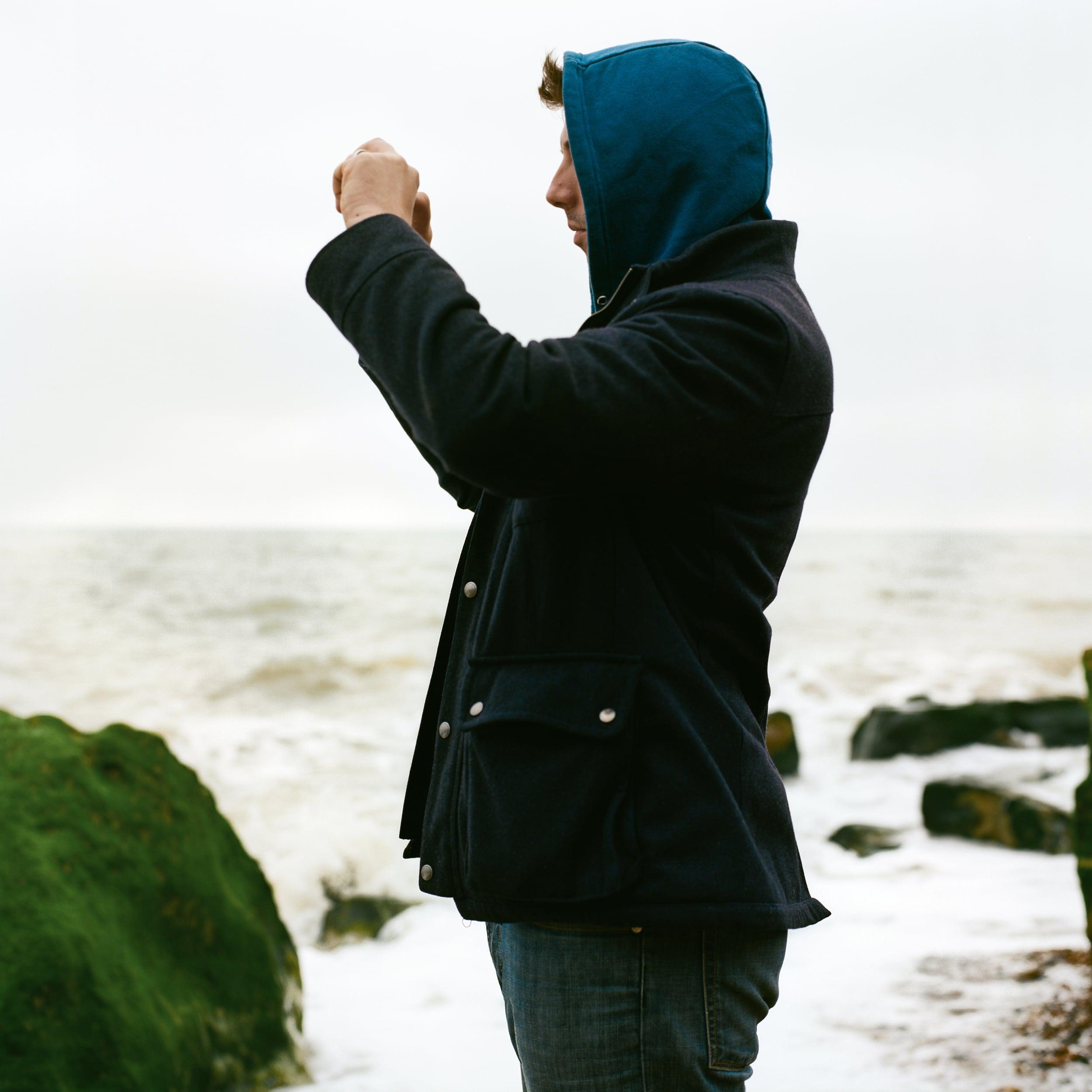 Photo of James Gifford-Mead taking photo on Hastings Coast UK