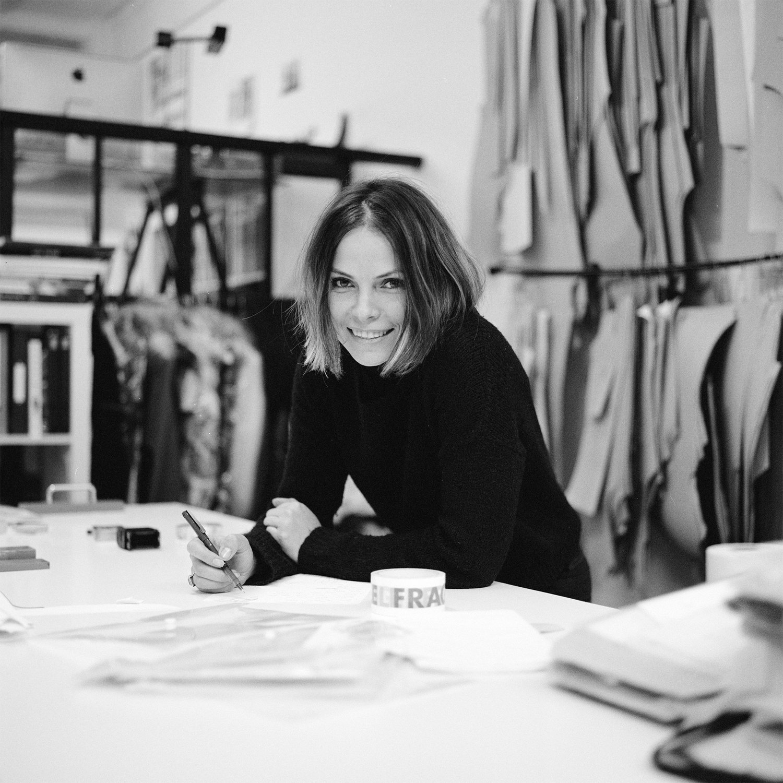 Dasha In ZDDZ Design Studio  Portrait of Designer Dasha Selyanova, Designer behind Fashion Brand  ZDDZ