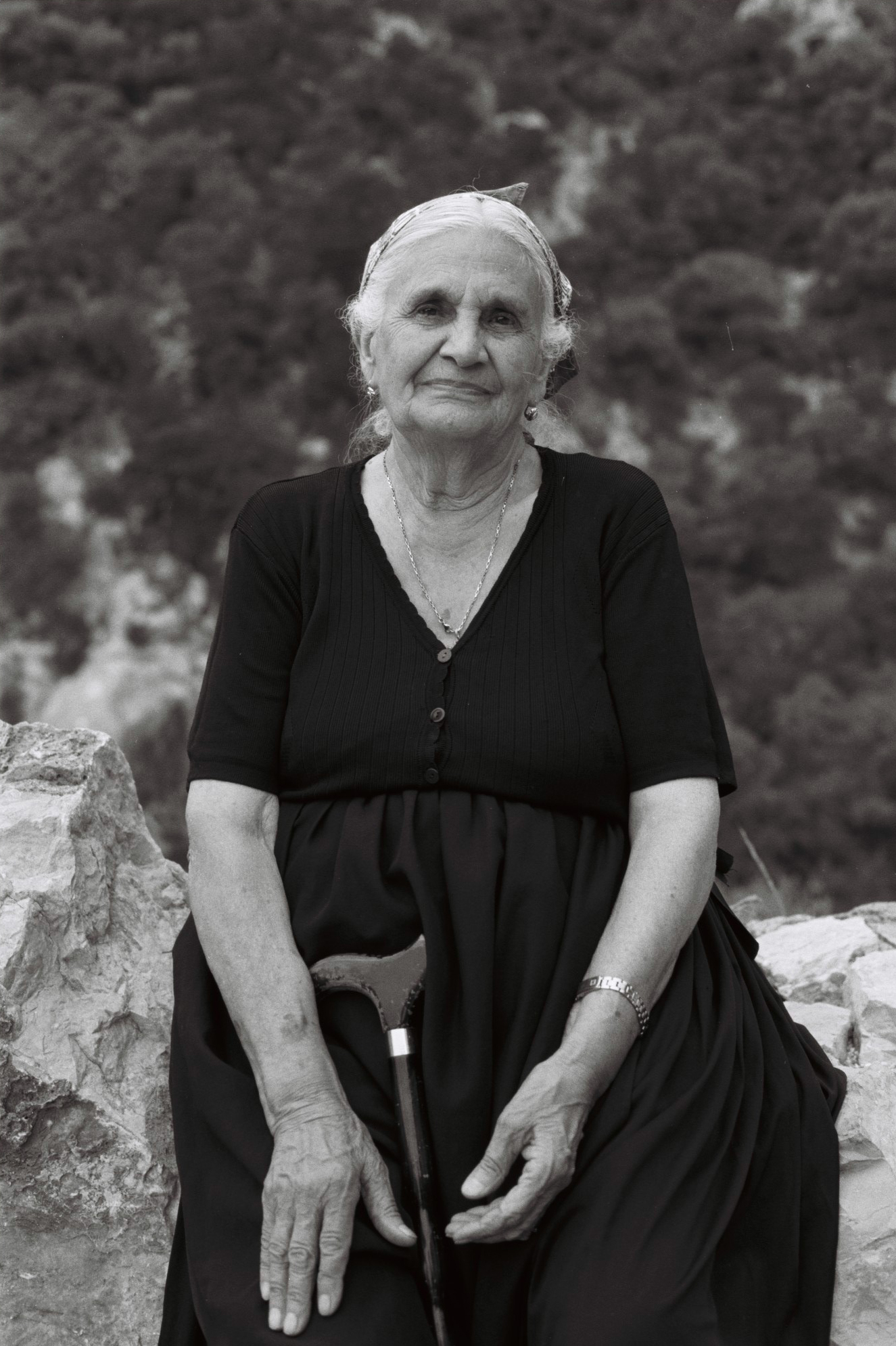 Travel Portrait of an old Sardinia Lady