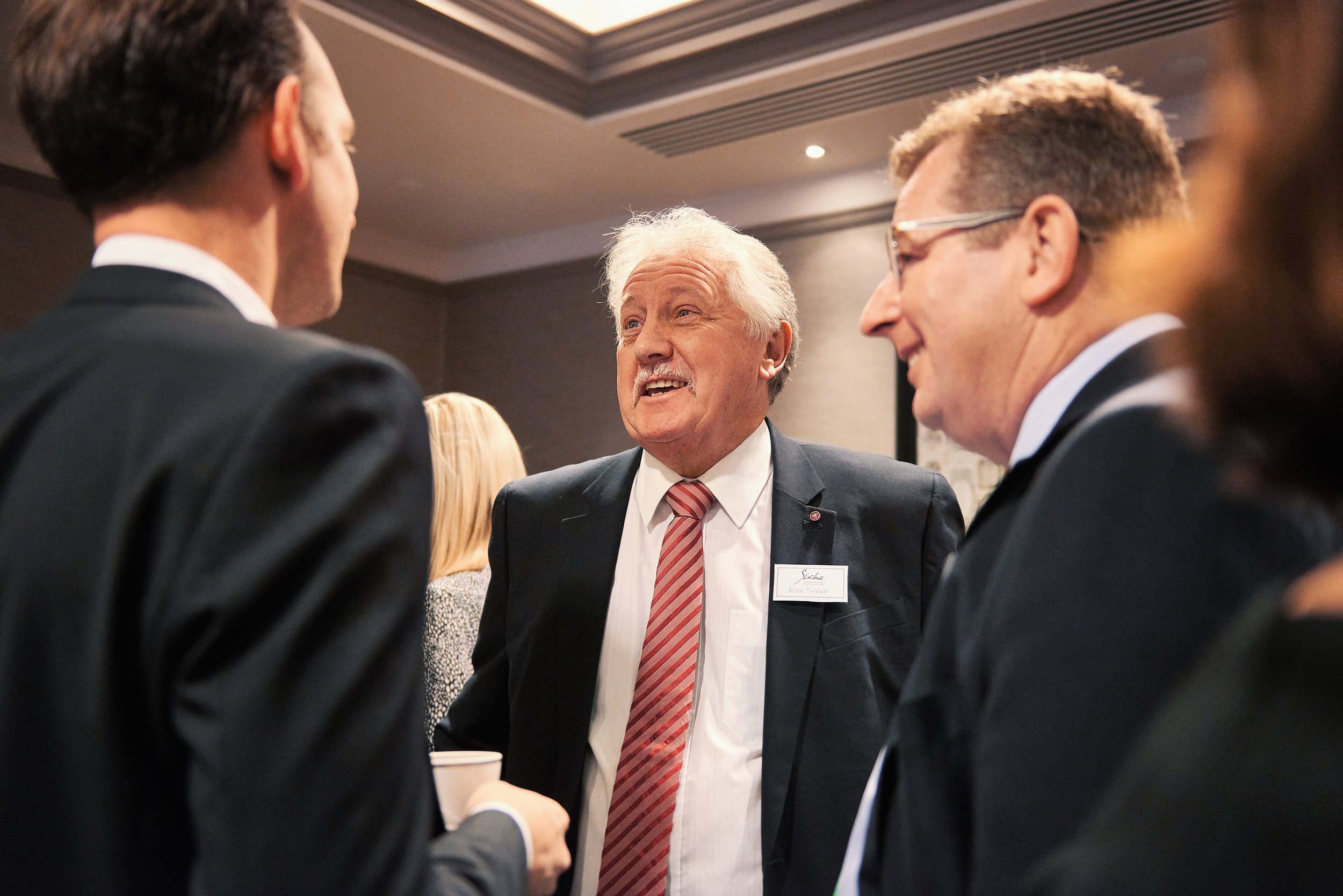Brian Turner CBE at Monkhouse Event in London