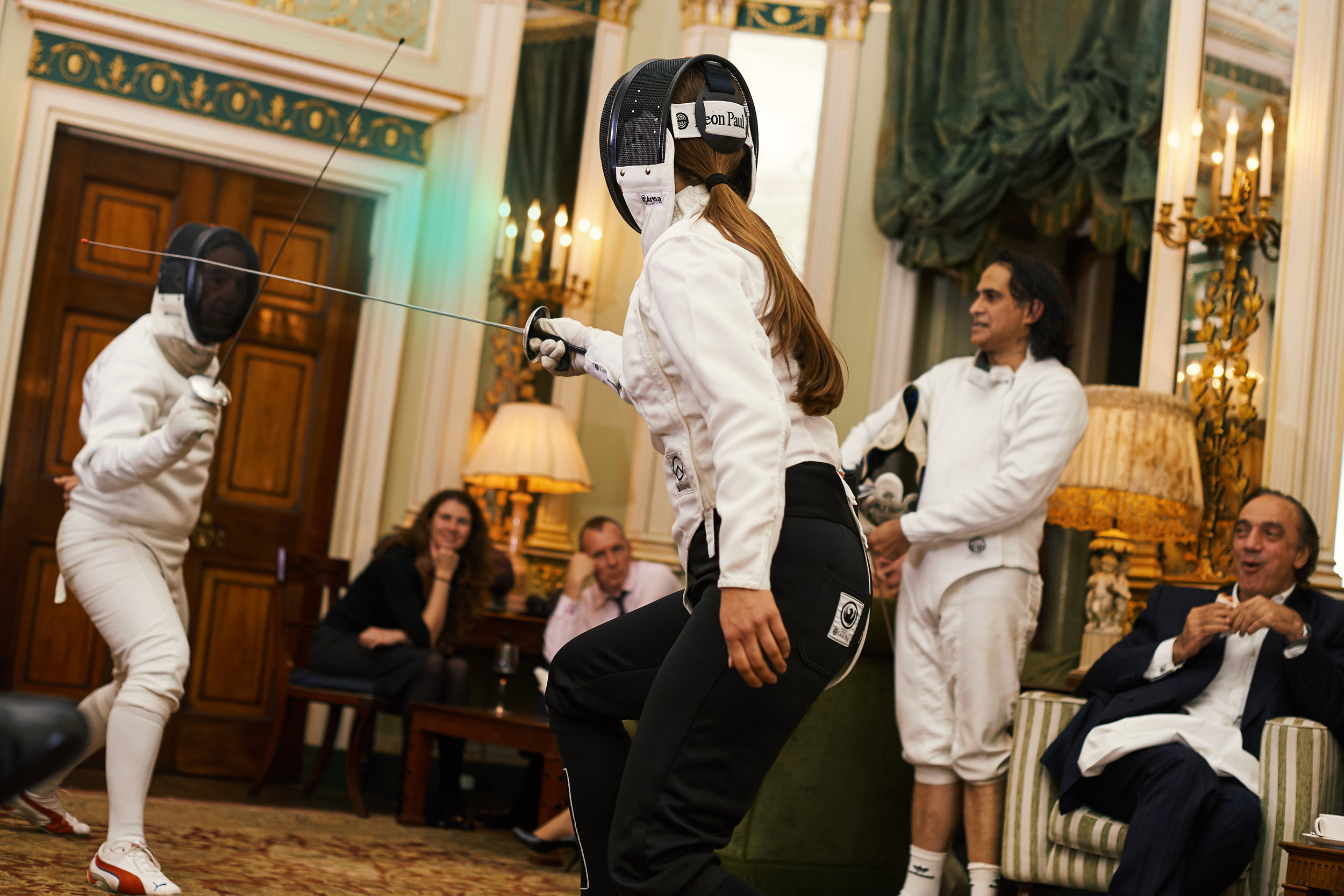 Fencing event at Home House