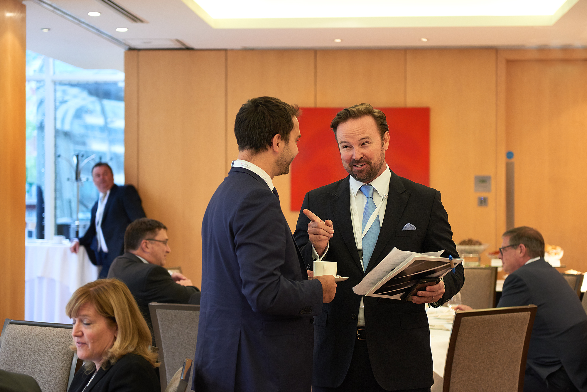Matthew Cochran at Defense Contractors Event in London