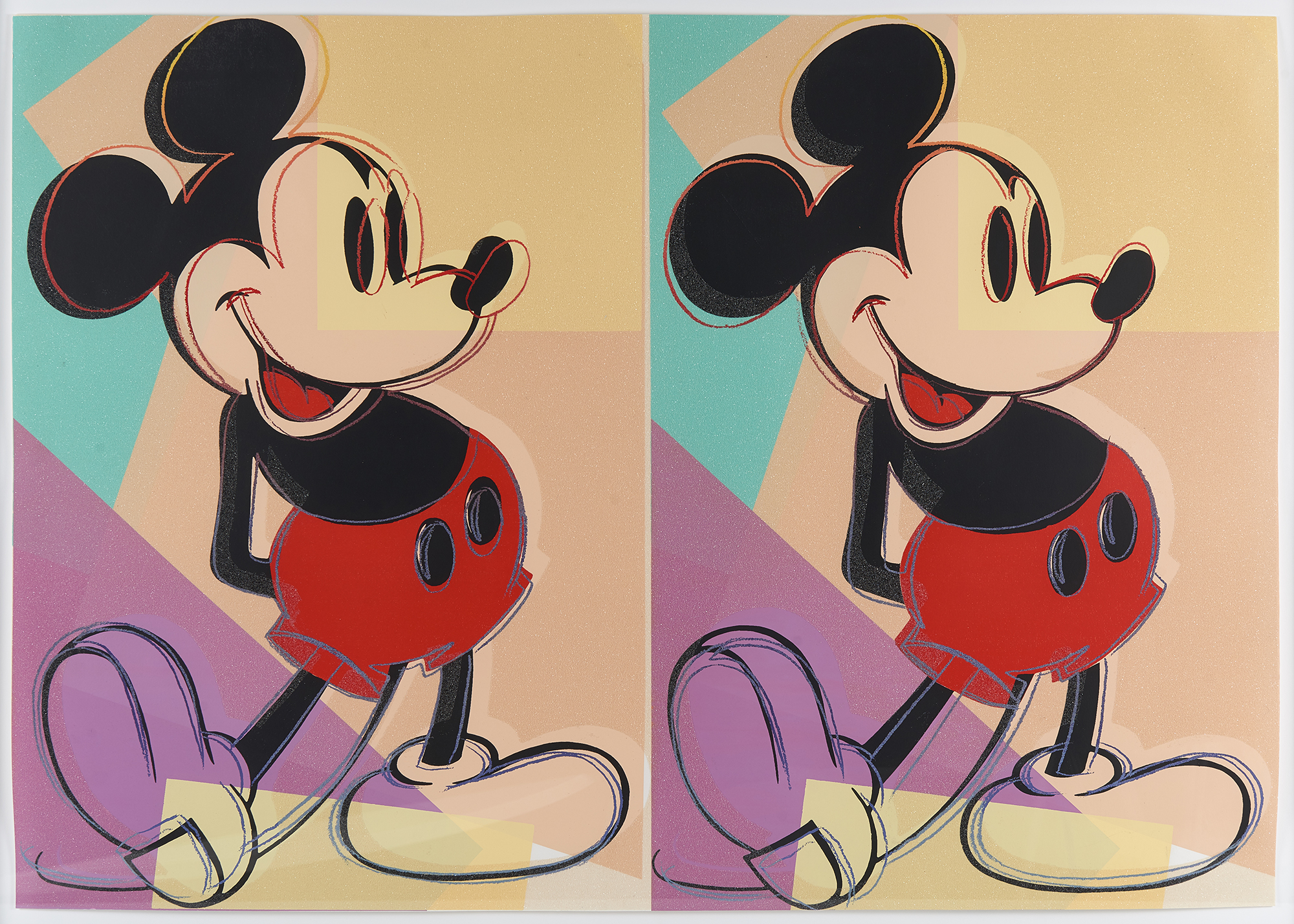 Double Mickey Mouse - Andy Warhol | Photographed Though Glass