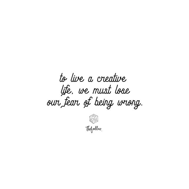 "To live a creative life, we must lose our fear of being wrong. ~Joseph Chilton Pearce.⠀⠀⠀⠀⠀⠀⠀⠀⠀ .⠀⠀⠀⠀⠀⠀⠀⠀⠀ To meditate on the idea that I might be doing 'it' wrong is a major killer of creativity in my life. Sometimes I stumble upon quotes that really speak to my heart. Although, they may not be scripture, they often inspire me to search the word and find out what God says about that thing. This time, I was lead to...⠀⠀⠀⠀⠀⠀⠀⠀⠀ 💛⠀⠀⠀⠀⠀⠀⠀⠀⠀ ""Trust in the LORD with all thine heart; and lean not unto thine own understanding. In all thy ways acknowledge him, and he shall direct thy paths. (Proverbs 3:5,6).⠀⠀⠀⠀⠀⠀⠀⠀⠀ 💛⠀⠀⠀⠀⠀⠀⠀⠀⠀ I'm learning... to be creative in the kingdom requires trusting in HIM, not looking to what we understand, acknowledging HIM, and waiting for HIS direction. If only I could properly express how much this kills my fear of being wrong before it even gets a chance to fester. 🙌🏾⠀⠀⠀⠀⠀⠀⠀⠀⠀ 💛⠀⠀⠀⠀⠀⠀⠀⠀⠀ Do you struggle with the FEAR of being wrong? Let's work through this truth together. #faithoverfear #thefallco #faithlovecreate"