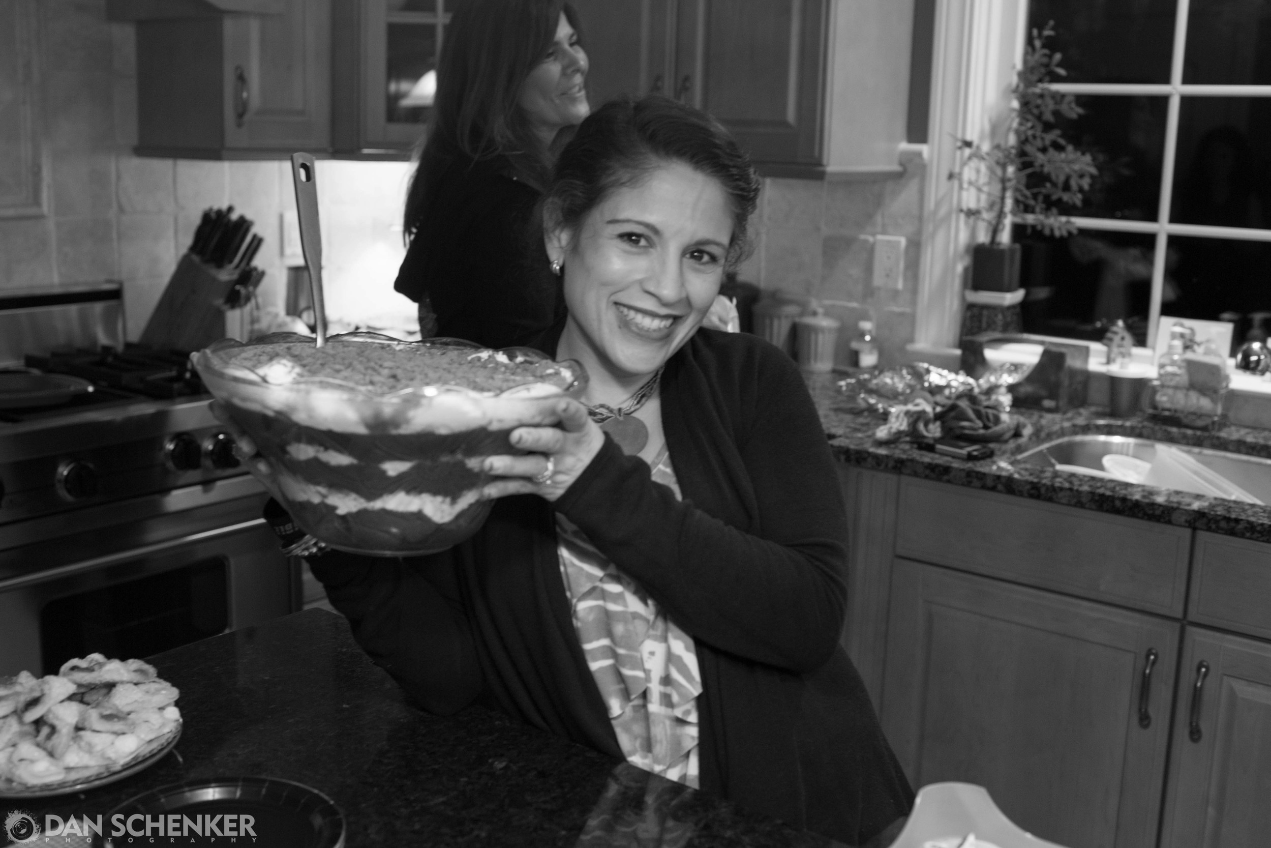 """Alicia with her now-famous """"Death by Chocolate"""" dessert. Om nom nom!"""